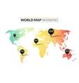 Colorful watercolor world map infographics vector image vector image