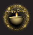 diwali background with gold glittery lights vector image vector image