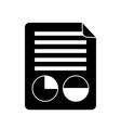 document report presentation diagram financial vector image vector image