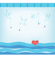 doves and hearts vector image vector image