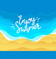 enjoy summer with beach and ocean waves vector image