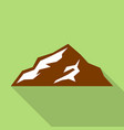 european mountain icon flat style vector image