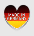 german national colored heart with text made vector image