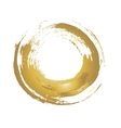 Golden grunge circle vector image vector image