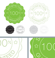 Green satisfaction guaranteed seal design set vector image vector image