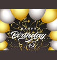 happy birthday dark background vector image vector image