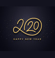 happy new year 2020 wishes typography vector image
