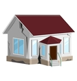 House destroyed Cracks in walls of home Property vector image