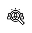 human resources icon vector image