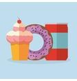 Ice cream and donut dessert design vector image vector image