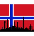 Industry and flag of Norway vector image vector image