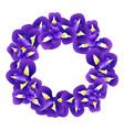 iris flower wreath vector image vector image