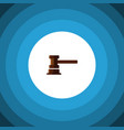 isolated courthouse flat icon government building vector image vector image