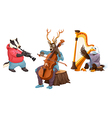 Isolated Musicians vector image vector image