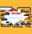 kindergarten or school diploma for kids vector image