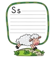 Little funny sheep for ABC Alphabet S vector image