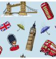London seamless pattern vector image