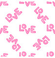 love seamless pattern happy valentines day vector image vector image