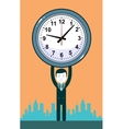 Man with clocks symbolizing time management vector image