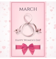 March 8 greeting card template International vector image vector image