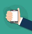 mobile phone in human hand vector image