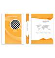 modern orange business brochure design vector image