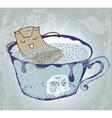 nice tea time vector image vector image