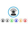 operator radio signal rounded icon vector image
