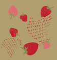 pattern strawberry vector image