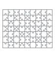 puzzle jigsaw set of 63 pieces in vector image vector image
