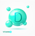 realistic detailed 3d vitamin d background card vector image vector image