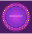 retro circular background with light bulbs retro vector image vector image
