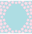 Sakura flowers round frame Japan blooming cherry vector image