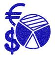 sales pie chart icon grunge watermark vector image vector image