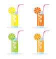 set of lemonade vector image vector image
