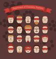set various doodle faces vector image