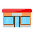 shop building front view vector image