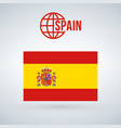 spain flag isolated on modern background with vector image vector image