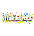thank you background with confetti vector image vector image