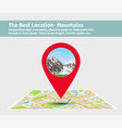 the best location mountain vector image vector image