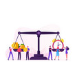 time is money concept tiny businesspeople vector image