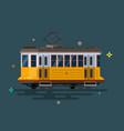 vintage tram retro tram detailed tram vector image vector image