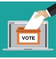 Voting online concept vector image