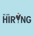 we are hiring concept vector image