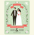 Wedding invitation background happy groom couple