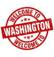 welcome to washington red stamp vector image vector image