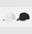 white and black baseball cap icon set design vector image vector image