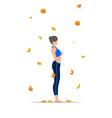 women silhouette mountain yoga pose tadasana vector image vector image