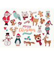 year cute doodle cartoon collection vector image