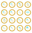 mouse pointer icon circle vector image
